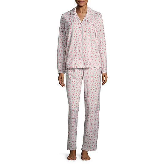 Adonna Microfleece Notch Collar Pant Pajama Set