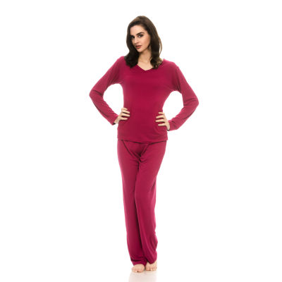 Harve Benard Sueded Micro Pant Pajama Set