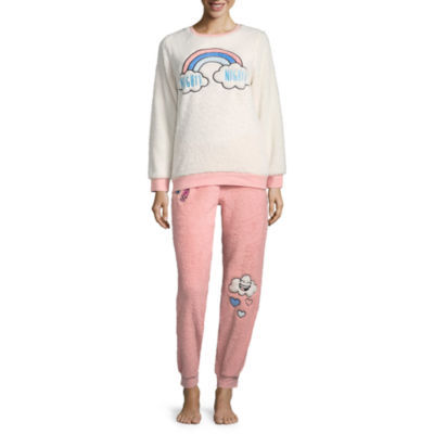Peace, Love, and Dreams Get Cozy Patches Pant Pajama Set