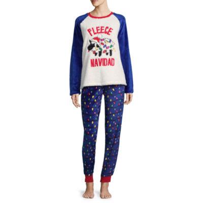 Peace, Love, and Dreams Holiday Novelty Pant Pajama Set