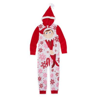 Elf on the Shelf Long Sleeve One Piece Pajama-Big Kid Girls