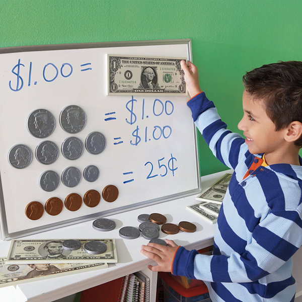 Educational Insights Big Money™ 3-D Magnetic Coins and Bills