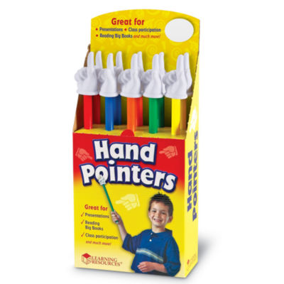 "Learning Resources 15"" Hand Pointers Set of 10 inDisplay"