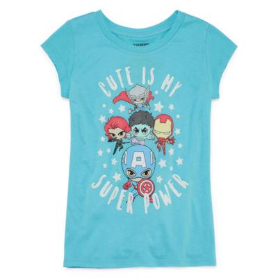 Super Heros 'Cute' T-Shirt- Girls' 7-16