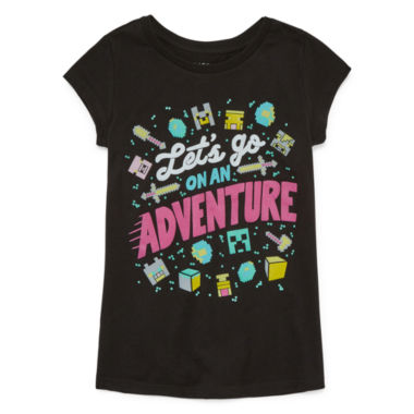 Minecraft On An Adventure Girls' Tee by JINX- Girls' 7-16