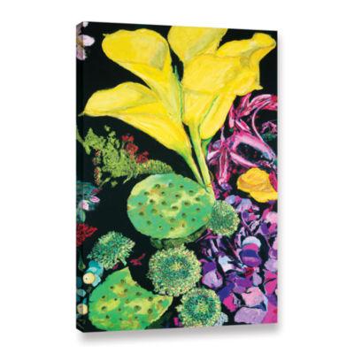Brushstone Yellow Cala Gallery Wrapped Canvas WallArt