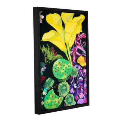 Brushstone Yellow Cala Gallery Wrapped Floater-Framed Canvas Wall Art