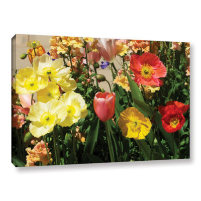 Brushstone Yellow Flowers Gallery Wrapped Canvas Wall Art