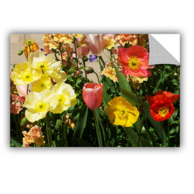 Brushstone Yellow Flowers Removable Wall Decal