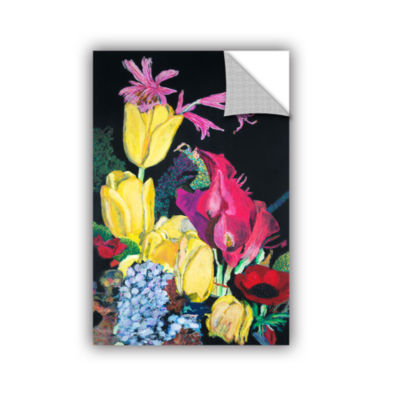 Brushstone Yellow Tulips Removable Wall Decal