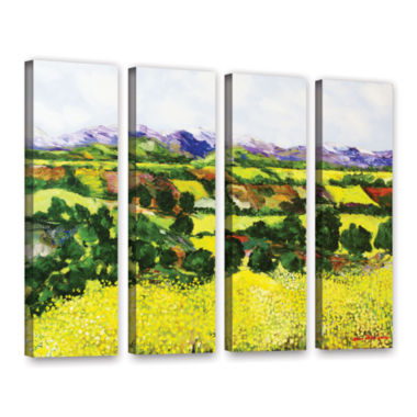 Brushstone Yellow Weeds 4-pc. Gallery Wrapped Canvas Wall Art