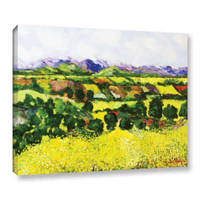 Brushstone Yellow Weeds Gallery Wrapped Canvas Wall Art