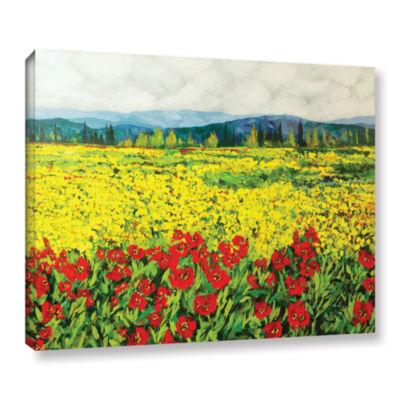 Brushstone Zone De Fleurs Gallery Wrapped Canvas Wall Art