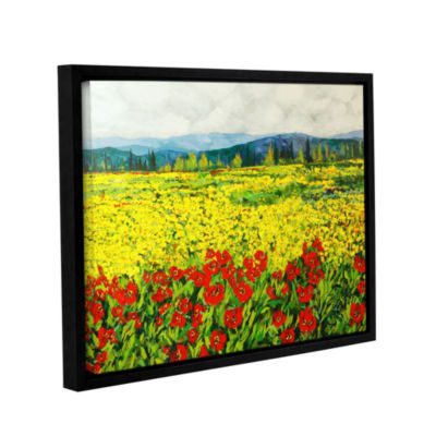 Brushstone Zone De Fleurs Gallery Wrapped Floater-Framed Canvas Wall Art