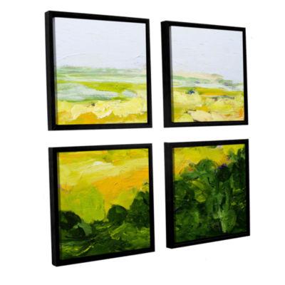 Brushstone Yorkshire 4-pc. Square Floater Framed Canvas Wall Art