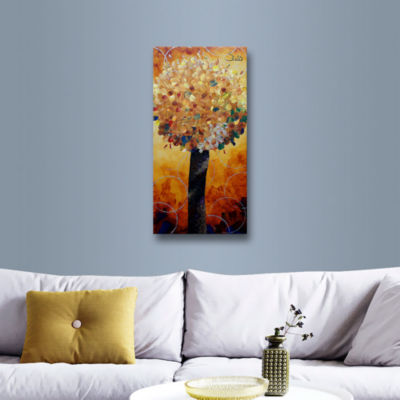 Brushstone Yellow Lolli Pop Gallery Wrapped CanvasWall Art