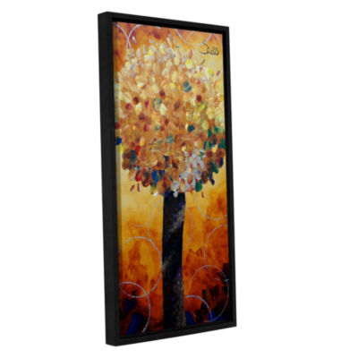 Brushstone Yellow Lolli Pop Gallery Wrapped Floater-Framed Canvas Wall Art