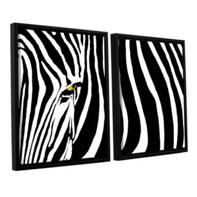 Brushstone Zebra Stripes 2-pc. Floater Framed Canvas Wall Art