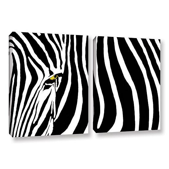Brushstone Zebra Stripes 2-pc. Gallery Wrapped Canvas Wall Art