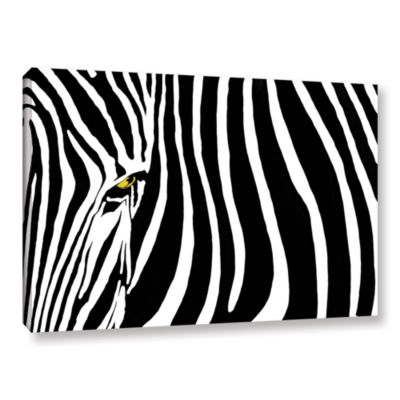 Brushstone Zebra Stripes Gallery Wrapped Canvas Wall Art