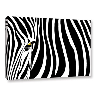 Brushstone Zebra Stripes Gallery Wrapped Canvas Wall Art