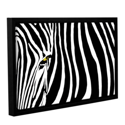 Brushstone Zebra Stripes Gallery Wrapped Floater-Framed Canvas Wall Art