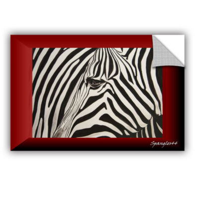 Brushstone Zebras Abstract Removable Wall Decal