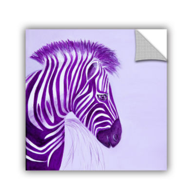 Brushstone Zebras Purple Removable Wall Decal