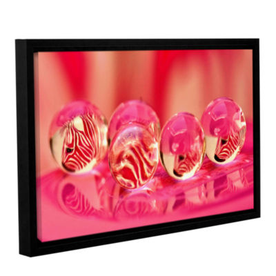 Brushstone Zebra7A Gallery Wrapped Floater-FramedCanvas Wall Art