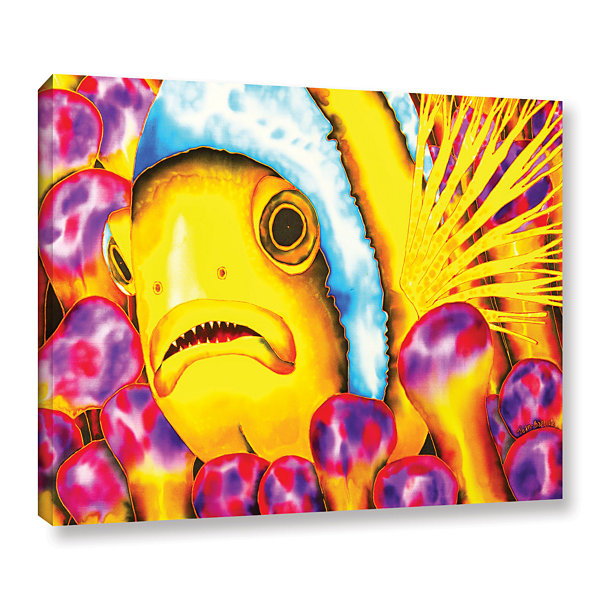 Brushstone Yellow Clownfish Gallery Wrapped CanvasWall Art