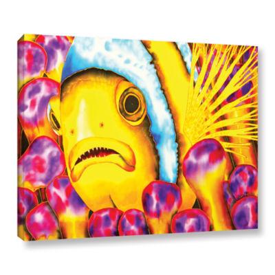 Brushstone Yellow Clownfish Gallery Wrapped CanvasWall Art