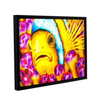 Brushstone Yellow Clownfish Gallery Wrapped Floater-Framed Canvas Wall Art