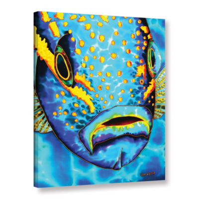 Brushstone Yellowtail Snapper Gallery Wrapped Canvas Wall Art