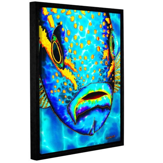 Brushstone Yellowtail Snapper Gallery Wrapped Floater-Framed Canvas Wall Art