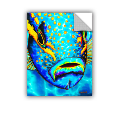 Brushstone Yellowtail Snapper Removable Wall Decal