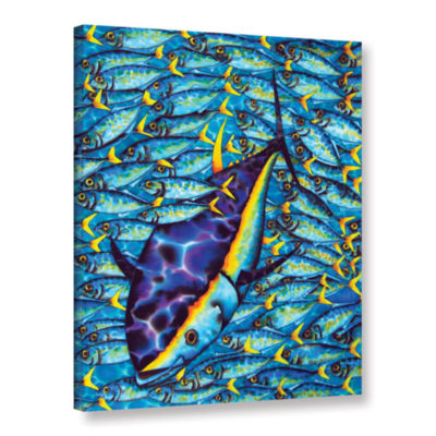 Brushstone Yellowtail Scad Gallery Wrapped CanvasWall Art