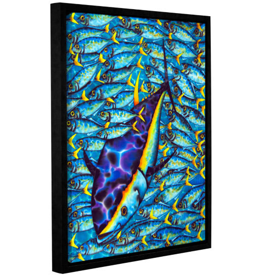 Brushstone Yellowtail Scad Gallery Wrapped Floater-Framed Canvas Wall Art