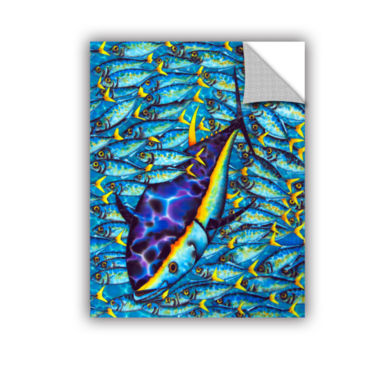 Brushstone Yellowtail Scad Removable Wall Decal