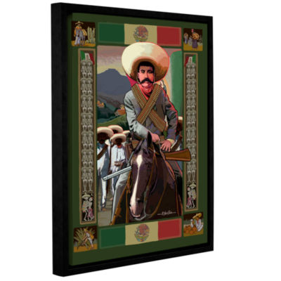 Brushstone Zapata Gallery Wrapped Floater-Framed Canvas Wall Art