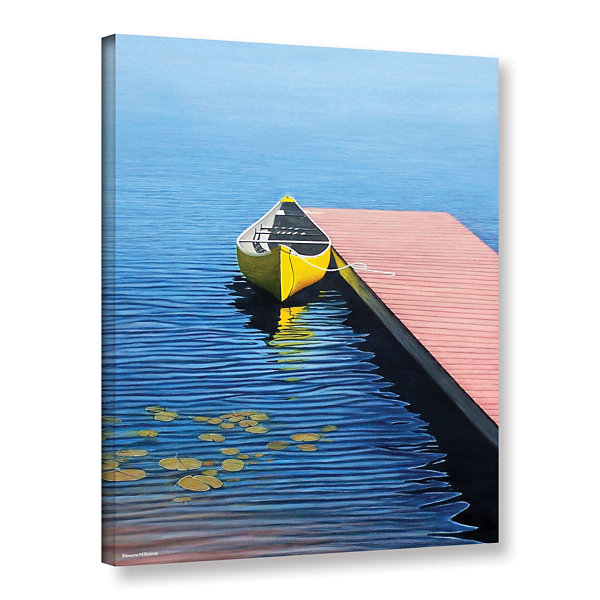 Brushstone Yello Canoe Gallery Wrapped Canvas WallArt