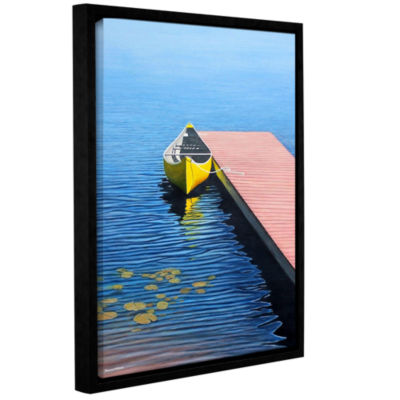 Brushstone Yello Canoe Gallery Wrapped Floater-Framed Canvas Wall Art