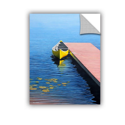 Brushstone Yello Canoe Removable Wall Decal