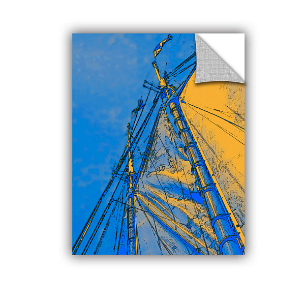 Brushstone Yellow Sails At Sea Removable Wall Decal