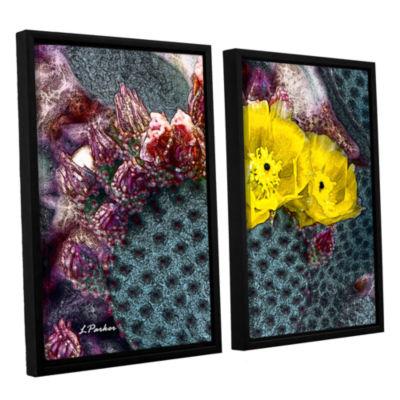 Brushstone Yellow Desert Blooms 2-pc. Floater Framed Canvas Wall Art
