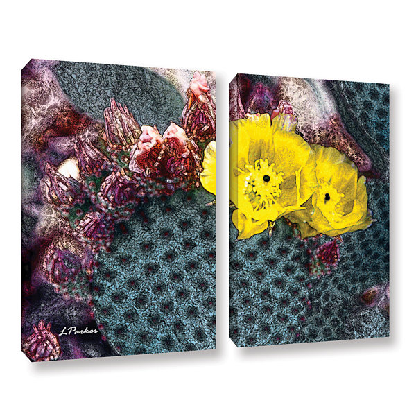 Brushstone Yellow Desert Blooms 2-pc. Gallery Wrapped Canvas Wall Art