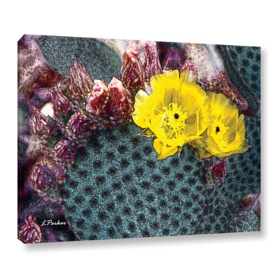 Brushstone Yellow Desert Blooms Gallery Wrapped Canvas Wall Art