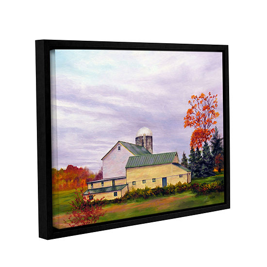 Brushstone Yellow Barn Gallery Wrapped Floater-Framed Canvas Wall Art