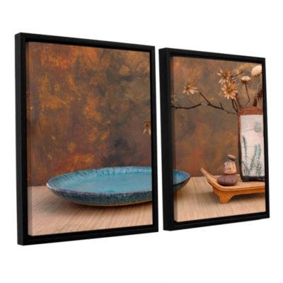 Brushstone Zen Still Life 2-pc. Floater Framed Canvas Wall Art