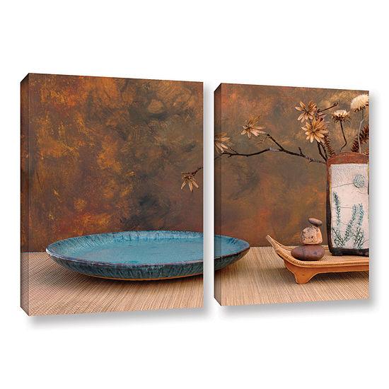 Brushstone Zen Still Life 2 Pc Gallery Wrapped Canvas Wall Art