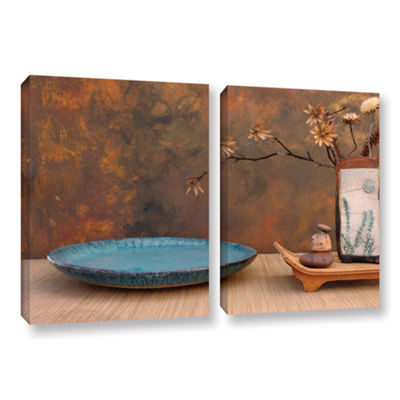Brushstone Zen Still Life 2-pc. Gallery Wrapped Canvas Wall Art